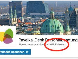Gewinnspiel: Wir haben über 1.000 Follower auf LinkedIn