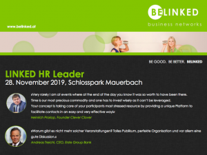 HR Event-Tipp: Linked HR Leader. Co-Sponsored by Pavelka-Denk