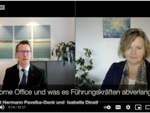 """Aufzeichnung vom Webcast """"Schrecken oder heile Welt, was Home Office von Führungskräften abverlangt"""""""